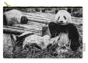 3722-panda -  Graphite Drawing 2 Sl Carry-all Pouch