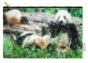 3722-panda -  Light Colored Pencils Carry-all Pouch