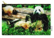 3722-panda -  Pastel Pencils Carry-all Pouch