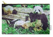 3722-panda -  Watercolor 2 Sl Carry-all Pouch