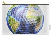 3d Rendering Of A Planet Earth Golf Carry-all Pouch