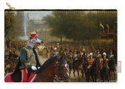 Borzoi - Russian Wolfhound Art Canvas Print Carry-all Pouch