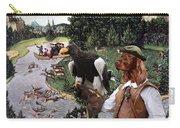 Irish Setter Art Canvas Print Carry-all Pouch