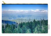 A Wide View Of The Great Smoky Mountains From The Top Of Clingma Carry-all Pouch