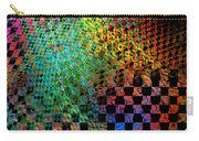 Abstract Checkered Pattern Fractal Flame Carry-all Pouch by Keith Webber Jr