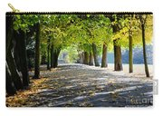 Alley With Falling Leaves In Fall Park Carry-all Pouch
