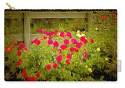 Fence Line Flowers Carry-all Pouch