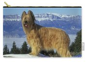 Briard Dog Carry-all Pouch by Jean-Michel Labat