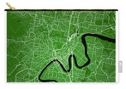 Brisbane Street Map - Brisbane Australia Road Map Art On Colored Carry-all Pouch