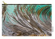 Bull Kelp Blades On Surface Background Texture Carry-all Pouch