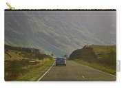 Cars And Other Vehicles On A Road In The Scottish Highlands Carry-all Pouch