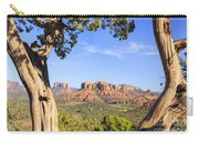 Cathedral Rock Framed By Juniper In Sedona Arizona Carry-all Pouch
