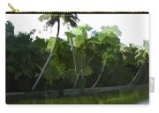 Coconut Trees And Other Plants In A Creek Carry-all Pouch