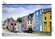 Colorful Houses In St. John's Carry-all Pouch by Elena Elisseeva