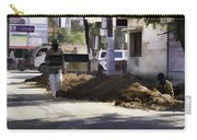 Digging A Ditch At The Side Of A Road In Roorkee Carry-all Pouch