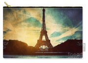 Eiffel Tower In Paris Fance In Retro Style Carry-all Pouch