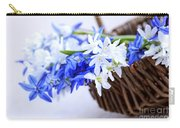 First Spring Flowers Carry-all Pouch by Elena Elisseeva