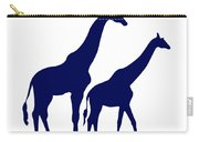 Giraffe In Navy And White Carry-all Pouch