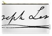 Joseph Lister (1827-1912) Carry-all Pouch