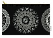 Kaleidoscope Ernst Haeckl Sea Life Series Black And White Set 2  Carry-all Pouch