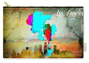 Los Angeles Map And Skyline Carry-all Pouch