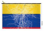 Medellin Street Map - Medellin Colombia Road Map Art On Colored  Carry-all Pouch