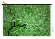 Melbourne Street Map - Melbourne Australia Road Map Art On Color Carry-all Pouch