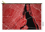Montreal Street Map - Montreal Canada Road Map Art On Colored Ba Carry-all Pouch