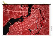 Ottawa Street Map - Ottawa Canada Road Map Art On Colored Backgr Carry-all Pouch