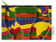 Paint Brushes Camouflaged Carry-all Pouch