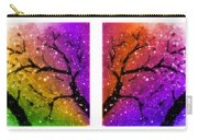 4-panel Snow On The Colorful Cherry Blossom Trees Carry-all Pouch