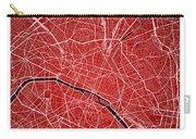 Paris Street Map - Paris France Road Map Art On Colored Backgrou Carry-all Pouch