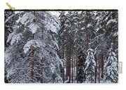 Pine Forest Winter Carry-all Pouch