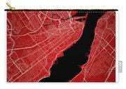 Quebec City Street Map - Quebec City Canada Road Map Art On Colo Carry-all Pouch