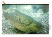 Rainbow Trout Carry-all Pouch by Les Cunliffe