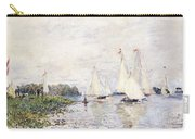 Regatta At Argenteuil Carry-all Pouch by Claude Monet