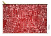 Santiago Street Map - Santiago Chile Road Map Art On Colored Bac Carry-all Pouch