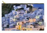 Serifos Town During Dusk Time Carry-all Pouch