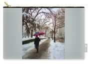 Snowfall In Central Park Carry-all Pouch