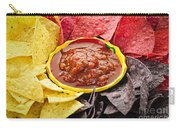 Tortilla Chips And Salsa Carry-all Pouch by Elena Elisseeva