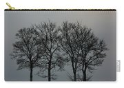 4 Trees In A Winters Landscape Carry-all Pouch