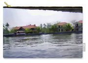 View Of Lake Resort Framed From The Top Of A Houseboat Carry-all Pouch