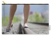 Walking On Railroad Tracks Carry-all Pouch