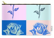 4 Warhol Roses By Punt Carry-all Pouch