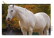 White Horse In Autumn Carry-all Pouch