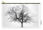 Winter Tree In Fog Carry-all Pouch by Elena Elisseeva