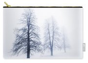 Winter Trees In Fog Carry-all Pouch