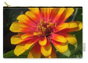 Zinnia Named Swizzle Scarlet And Yellow Carry-all Pouch