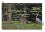 44- Alligator - Great Blue Heron Carry-all Pouch