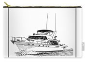 45 Foot Bayliner Motoryacht Carry-all Pouch by Jack Pumphrey